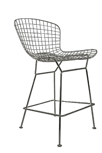 Contemporary Polished Metal Stool by Woodstock (2 Pack!)