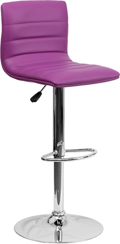Cool Armless Bar Stool with Purple Vinyl Upholstery by Flash Furniture