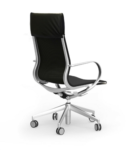 iDesk Curva CUR101 High Back Leather Office Chair
