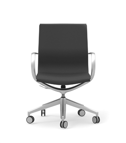 iDesk Curva CUR103 Mid Back Leather Office Chair