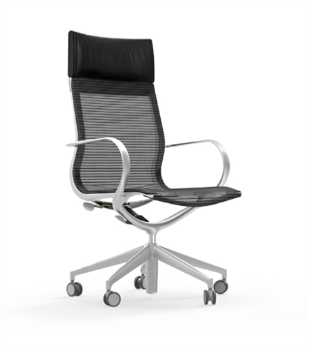 iDesk Curva High Back Mesh Executive Conference Chair CUR105