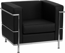 Flash Furniture Regal Series Black Leather Contemporary Lounge Chair