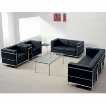 Flash Furniture Regal Series Modern Leather Reception Sofa