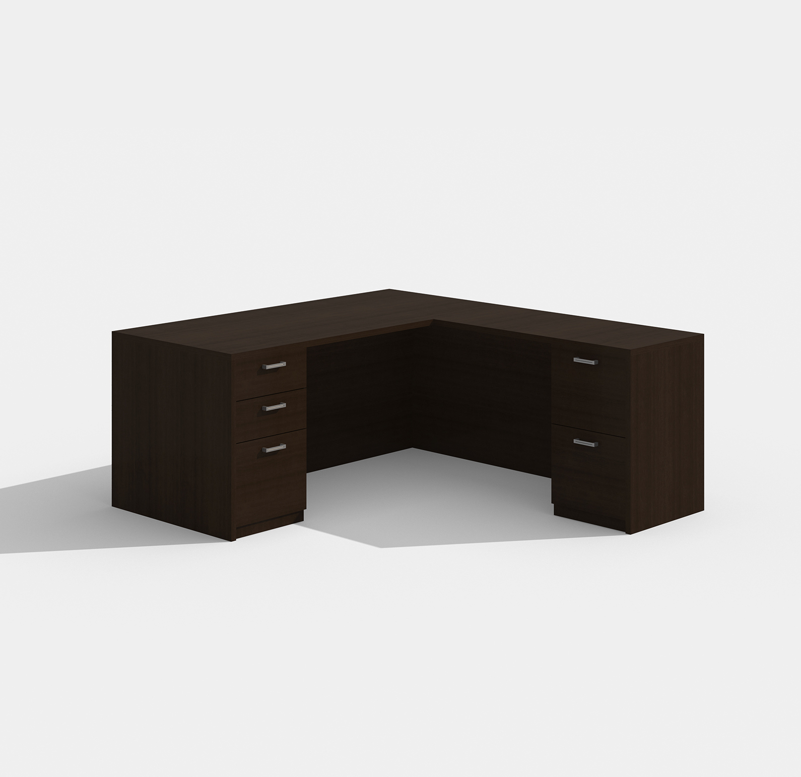 amber l-shaped desk am-313n with black cherry finish