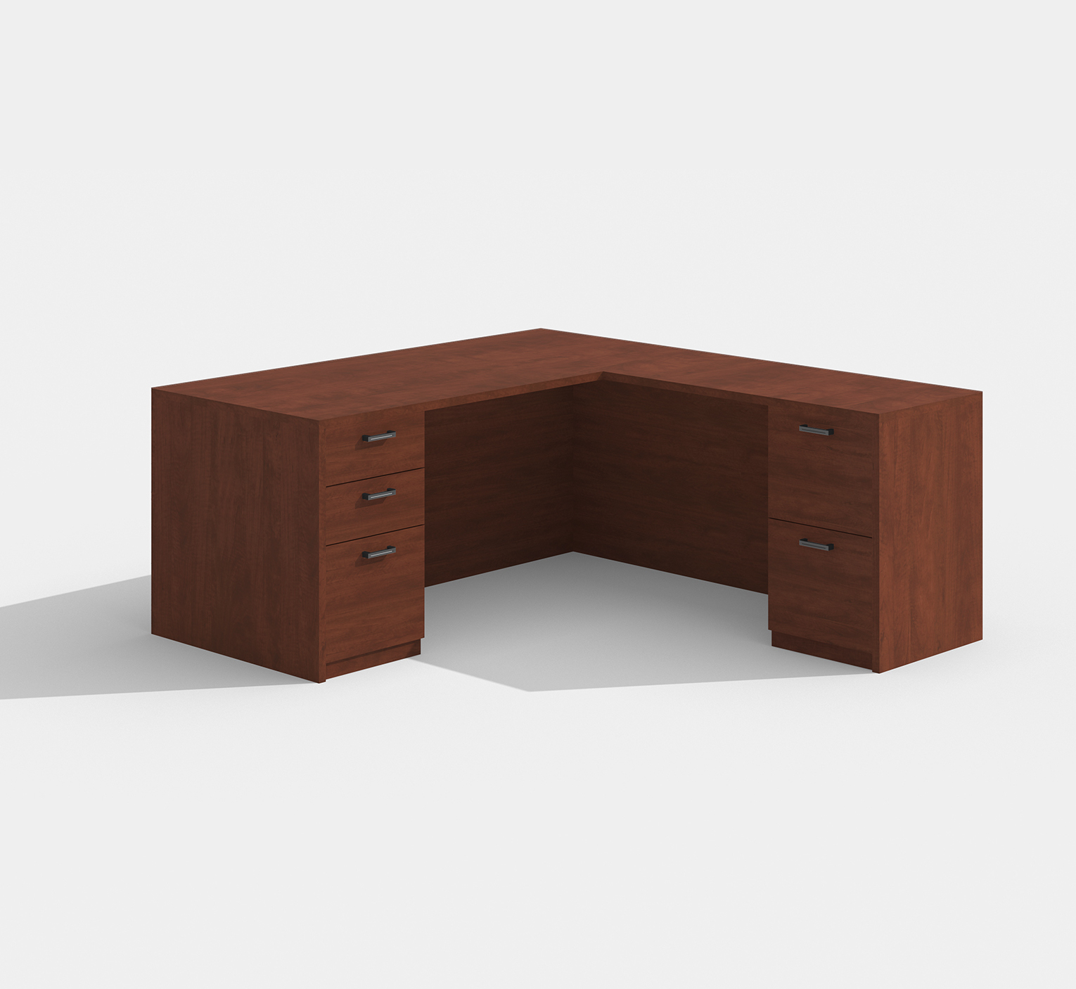 amber l-shaped desk am-313n with cherry finish