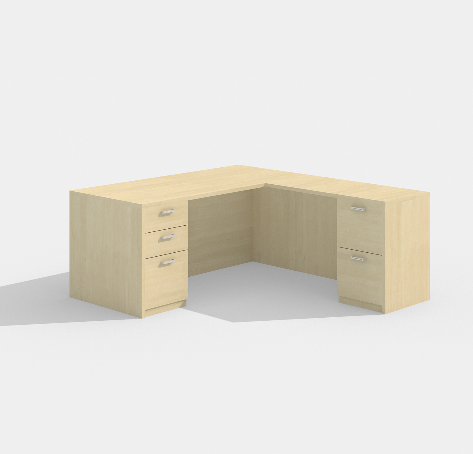 amber l-shaped desk am-313n with maple finish