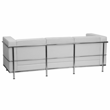Flash Furniture Regal Series White Leather Reception Sofa