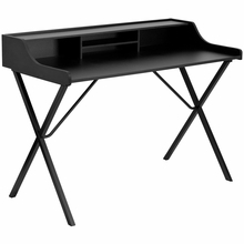 Flash Furniture Small Black Computer Desk with Top Shelf