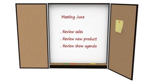 Cherryman Verde Collection Presentation White Board Cabinet V120LE
