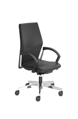 Indiana Furniture Eden Mid Back Black Leather Office Chair