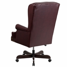 Flash Furniture Tufted Burgundy Leather High Back Executive Chair