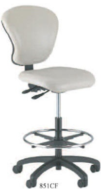 Intensa Armless Ergonomic Laboratory Chair with Foot Ring 851CF