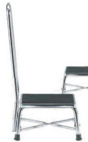 Intensa Bariatric Chrome Step Stool With Handrail