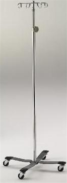 Intensa Chrome Plated Steel IV Pole With 4 Hook System