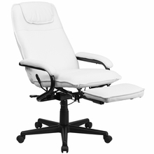 Flash Furniture White Leather Reclining Office Chair