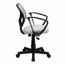 Flash Furniture White Office Chair with Arms