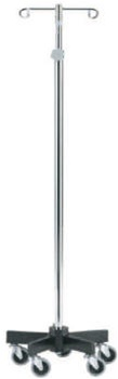 Intensa IV Pole - Infusion Pump Stand With 5 Leg Base and 2 Hook System