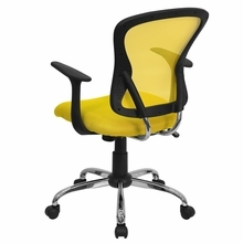 Flash Furniture Yellow Mesh Back Office Chair