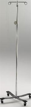 Intensa Stainless Steel IV Pole With 2 Hook System