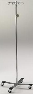 Intensa Stainless Steel IV Pole With 4 Hook System