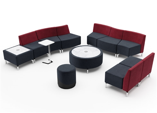 Jefferson Modular Reception Seating and Tables Set by Woodstock Marketing