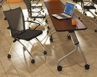 "Mayline 24"" x 66"" Sync Rectangular Table for Training Room"