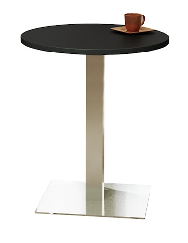 "Mayline 30"" Round Stainless Steel Bistro Table CA30RHS"
