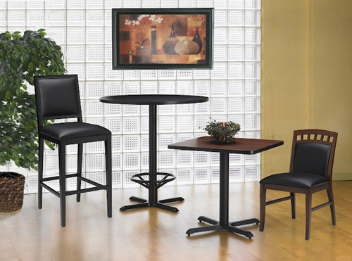 """Mayline 30"""" Square Dining Height Bistro Table CA30SLB"""