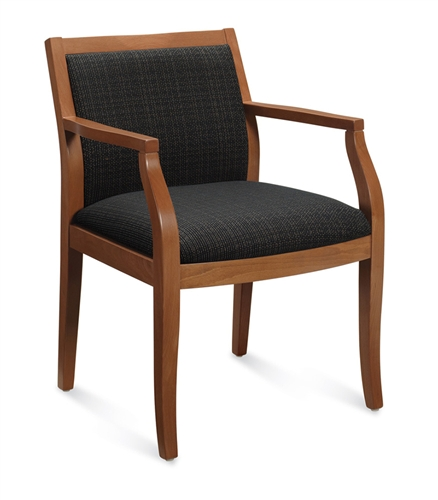 Global 8335T Mayne Series Wood Armchair