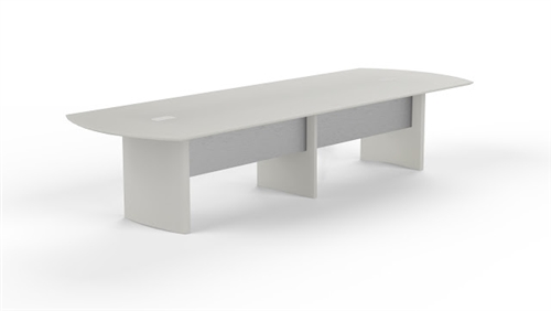 Medina Textured Sea Salt Finished 14' Conference Table by Mayline (Available With Power!)