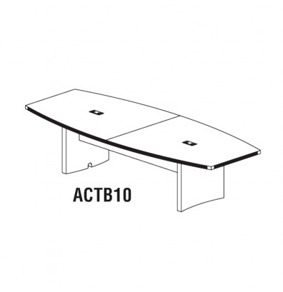 Mayline Aberdeen 10' Gray Steel Finished Conference Table ACTB10LGS (Available with Power!)