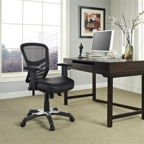 Modway Articulate Mesh Back Office Chair with Vinyl Seat EEI-755