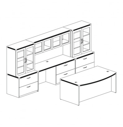 Mayline Aberdeen AT7 Office Furniture Set (4 Finishes!)