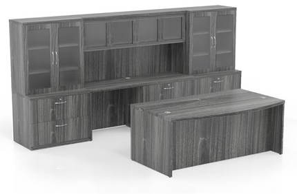 aberdeen model at7 desk configuration in gray