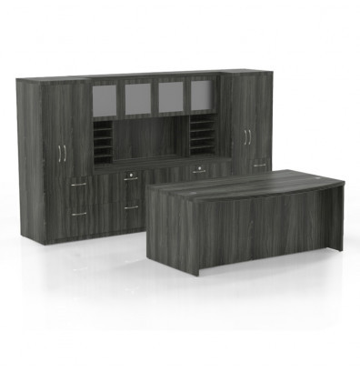 at9 aberdeen desk set in gray