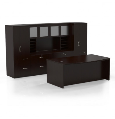 Mayline Aberdeen Office Desk Set AT9 (4 Finishes Available!)