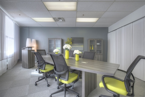 Mayline Aberdeen Series 8' Gray Steel Finished Conference Table (Available With Power!)