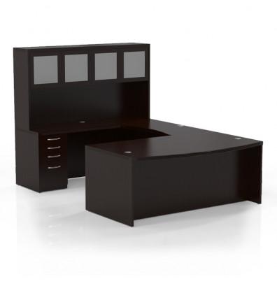 Mayline Aberdeen Series AT5LDC Mocha Executive Desk