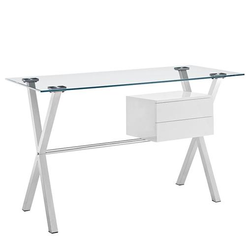 Modway EEI-1181 Stasis Modern Glass Top Computer Desk
