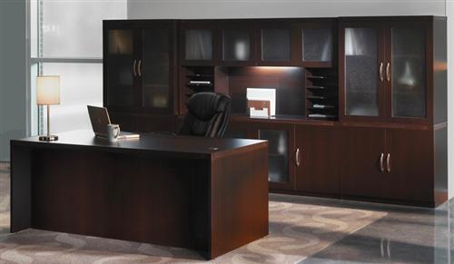 Mayline Aberdeen Series Mocha Executive Desk AT35LDC