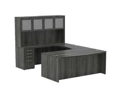 aberdeen at5 u shaped executive desk in gray steel