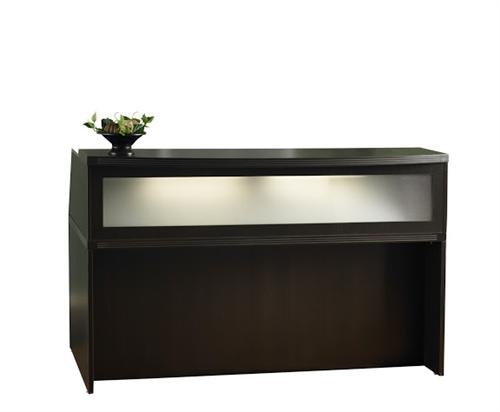 mocha finished aberdeen reception desk shell