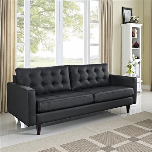 Modway Empress Bonded Leather Sofa (White or Black)
