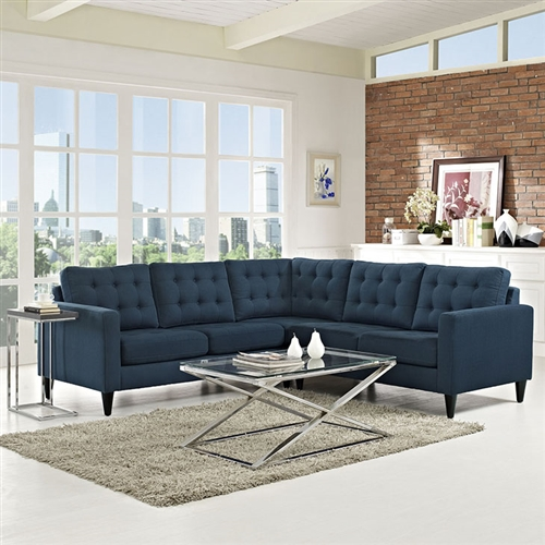 Modway Empress L Shaped Fabric Sectional (10 Color Options!)