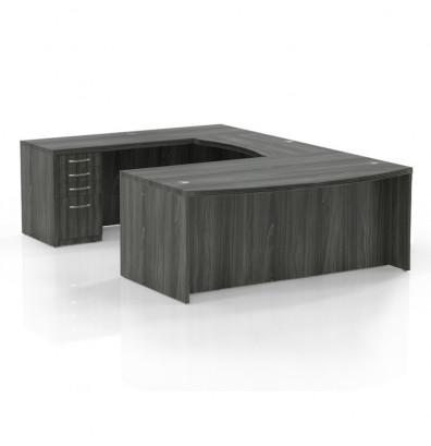 at3 aberdeen u desk in gray steel