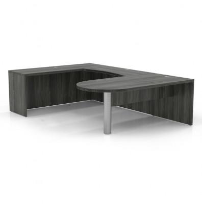 aberdeen at14 u-desk in gray steel