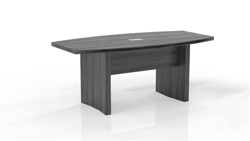 Mayline ACTB6 Aberdeen Gray Steel Finished 6' Conference Table with Optional Power