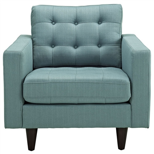tufted fabric lounge chair