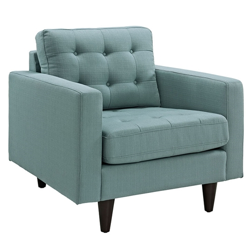 contemporary tufted lounge chair