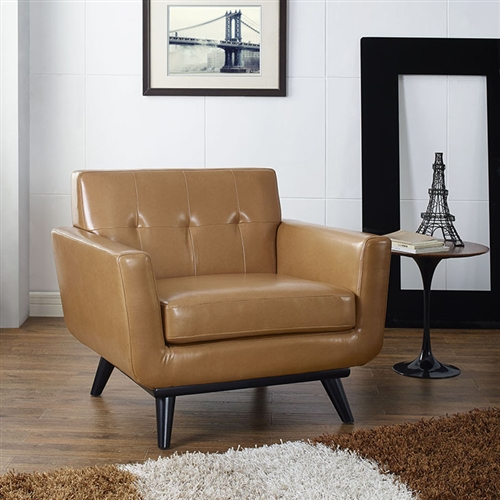 Modway Engage Contemporary Bonded Leather Lounge Chair EEI-1336 (3 Colors!)